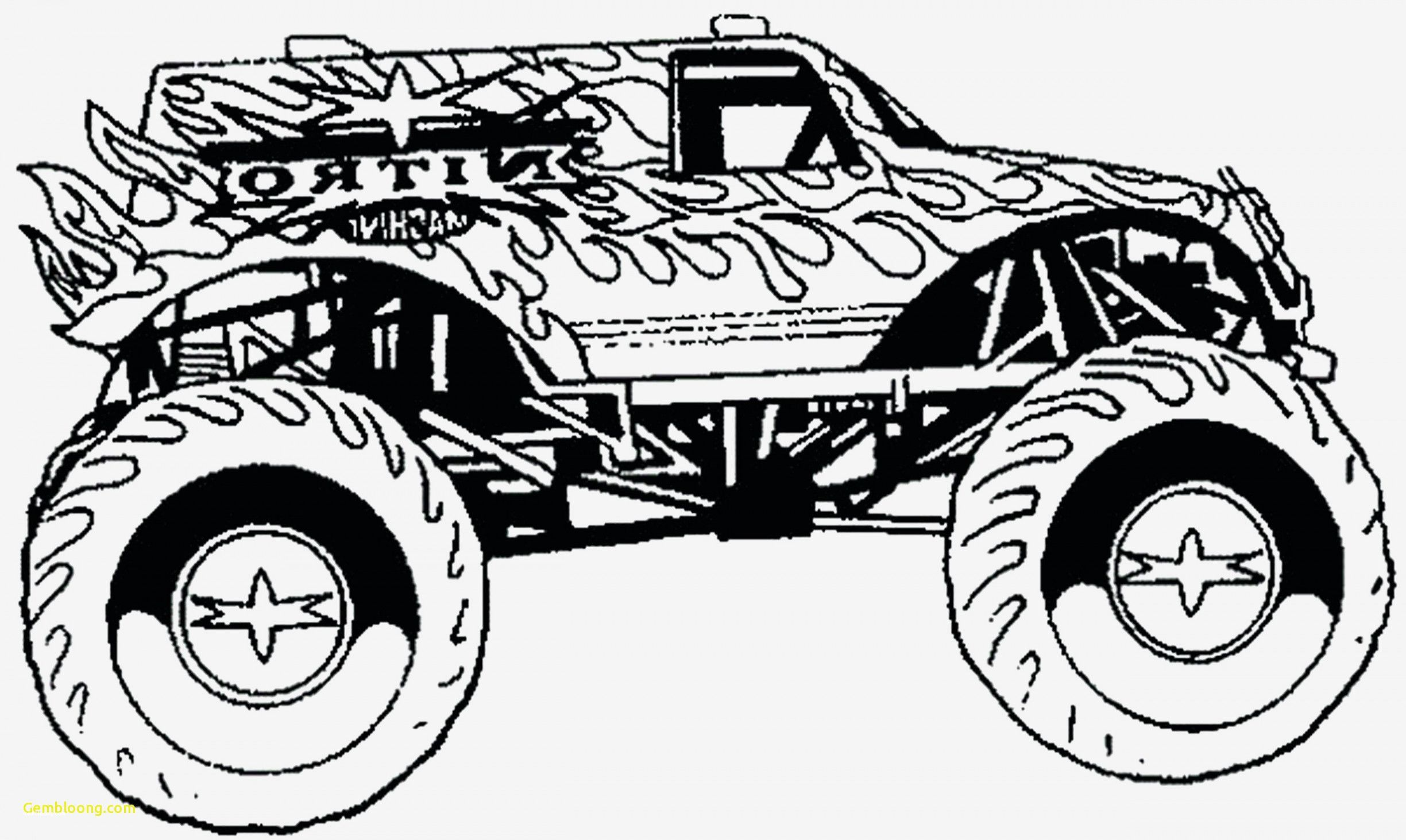 Monstor Truck Coloring Pages Easy To Color