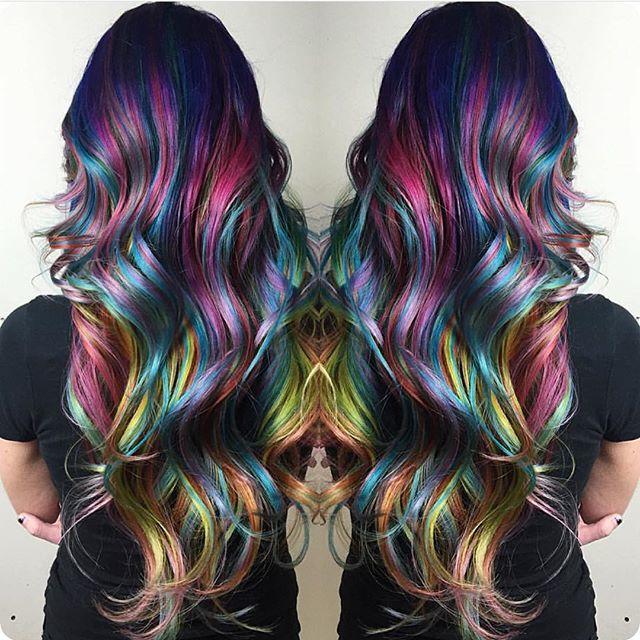 Amazing Rainbow Hair Color And Style By Christi Edier Hotonbeauty - Hair colour pinterest