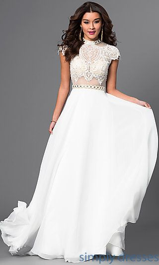 1000  images about White Dresses on Pinterest  Cheap evening ...