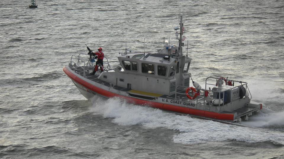 Coast Guard Cutter which escorts the Ferry Coast guard
