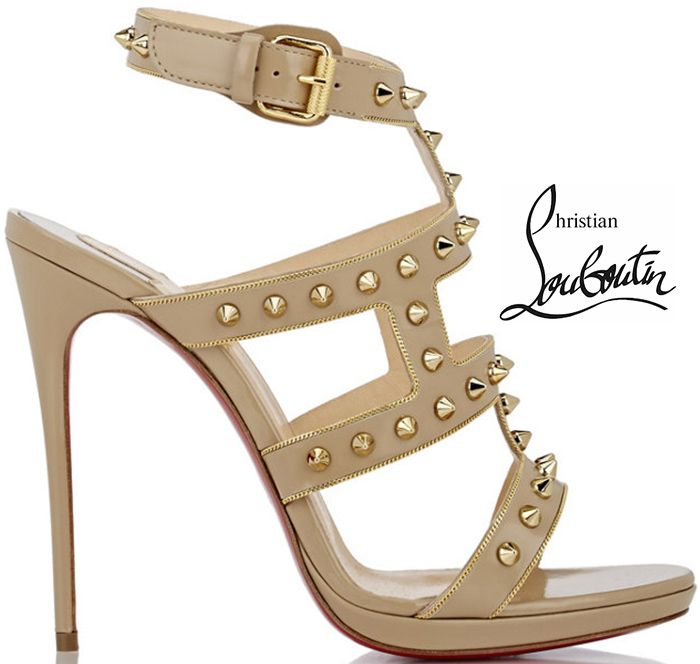 Christian Louboutin Leather Embellished Sandals 2015 new sale online buy cheap official site top quality sale online free shipping for cheap buy cheap pay with visa VvNThLhJCp