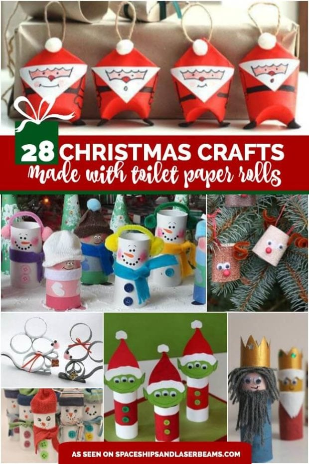 28 Christmas Crafts Made From Toilet Paper Rolls
