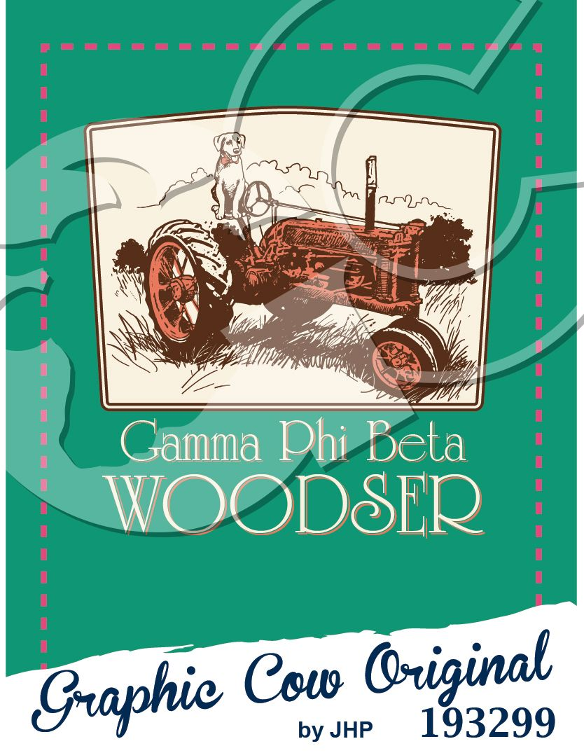 Woodser tractor and dog design #country #grafcow #outdoors