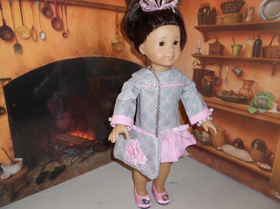 18 Doll Clothes Gray and Pink by MorgansCloset16 on Etsy