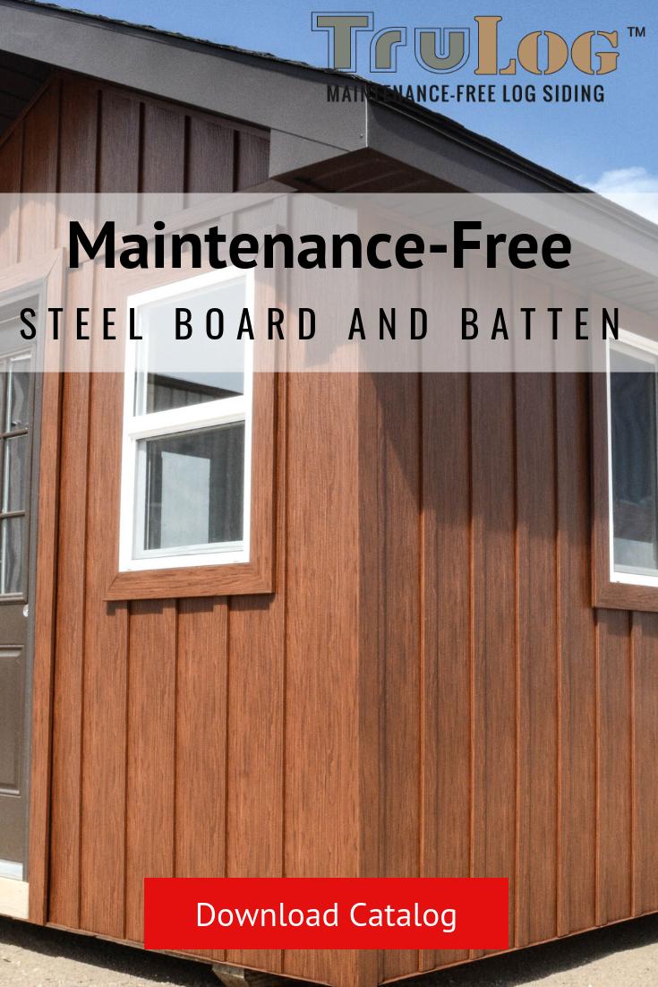 Steel Board And Batten Metal Siding House Steel Siding Log Siding