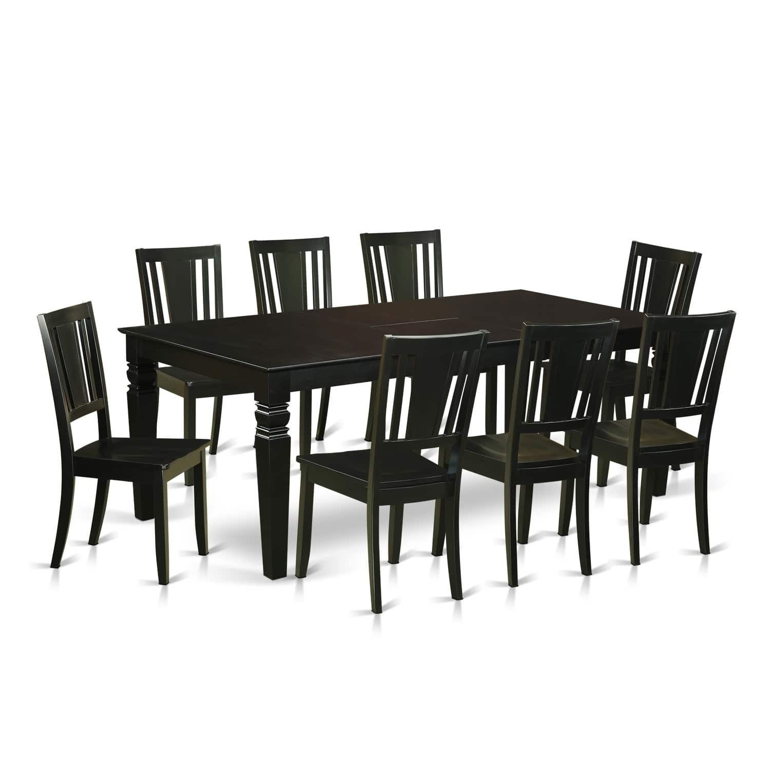 Lgdu9Blk 9 Pc Dinette Set With A Dining Table And 8 Dining Chairs Amazing 8 Pc Dining Room Set Decorating Inspiration