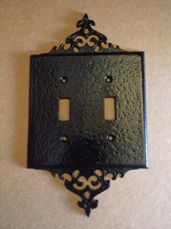 William spencer light switch plate switch cover black gothic finish sold william spencer light switch plate switch new vintage by tosh mozeypictures Choice Image