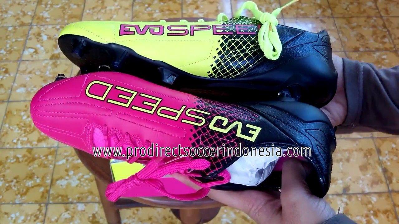 Sepatu Bola Puma Evospeed Sl Ii Lth Tricks Fg Pink Glo Safety