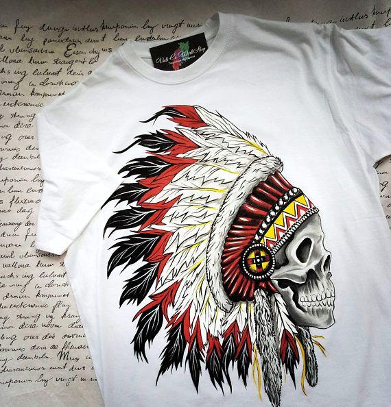 Custom Hand Painted T Shirt Roach