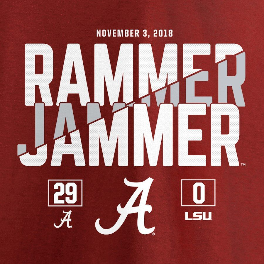 Alabama Crimson Tide vs. LSU Tigers Fanatics Branded 2018