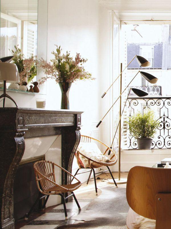living room  balcony window in paris  micasa · pierre