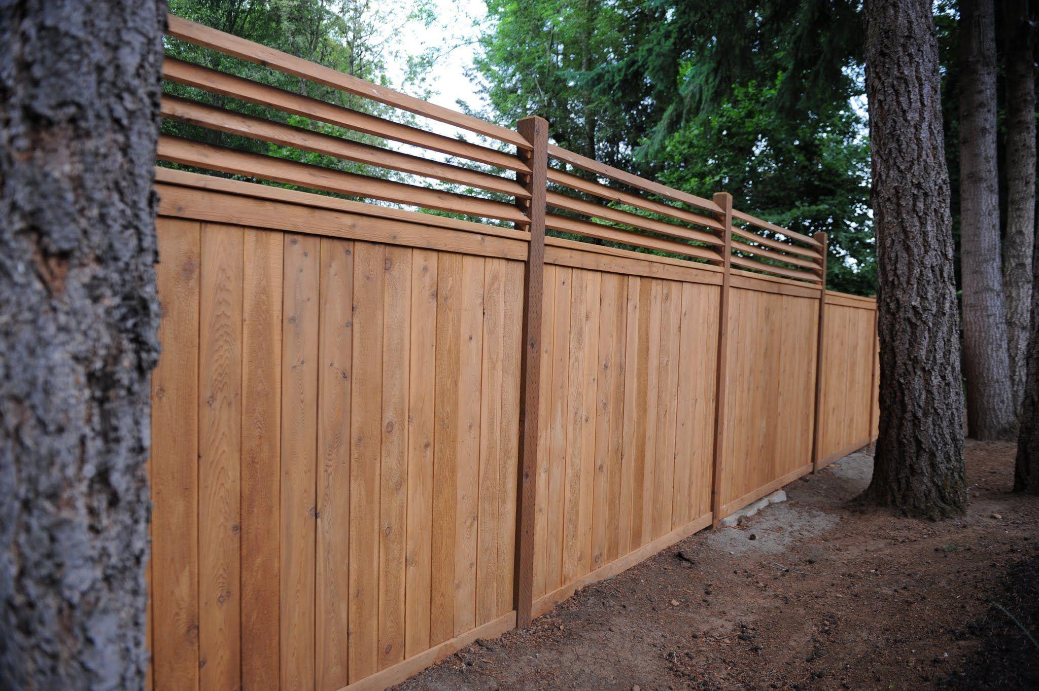Cedar Wood Fences Oregon Washington Rick S Custom Fencing Decking Cedar Fence Backyard Fences Cedar Wood Fence
