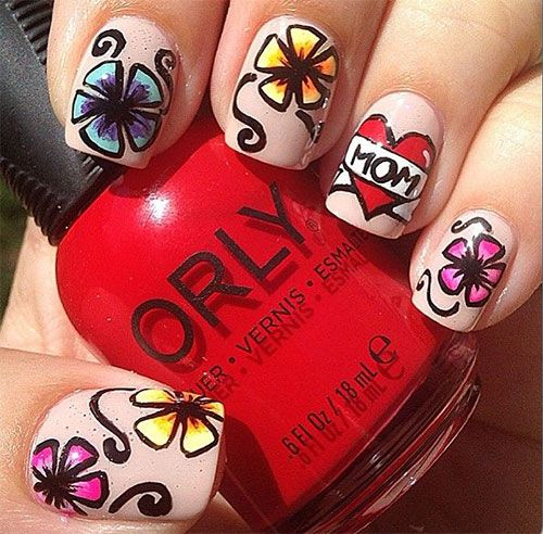 15 Best Hy Mothers Day Nail Art Designs Ideas Trends Stickers 2017