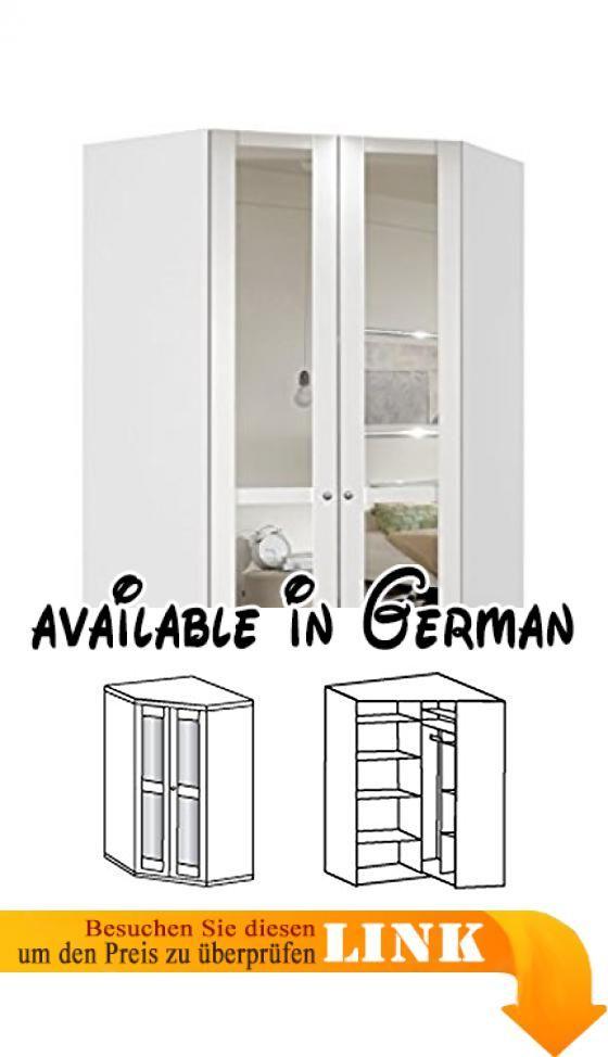 B074JJMV3V  Eckschrank Eckkleiderschrank Kleiderschrank - Schlafzimmer Landhausstil Weiß