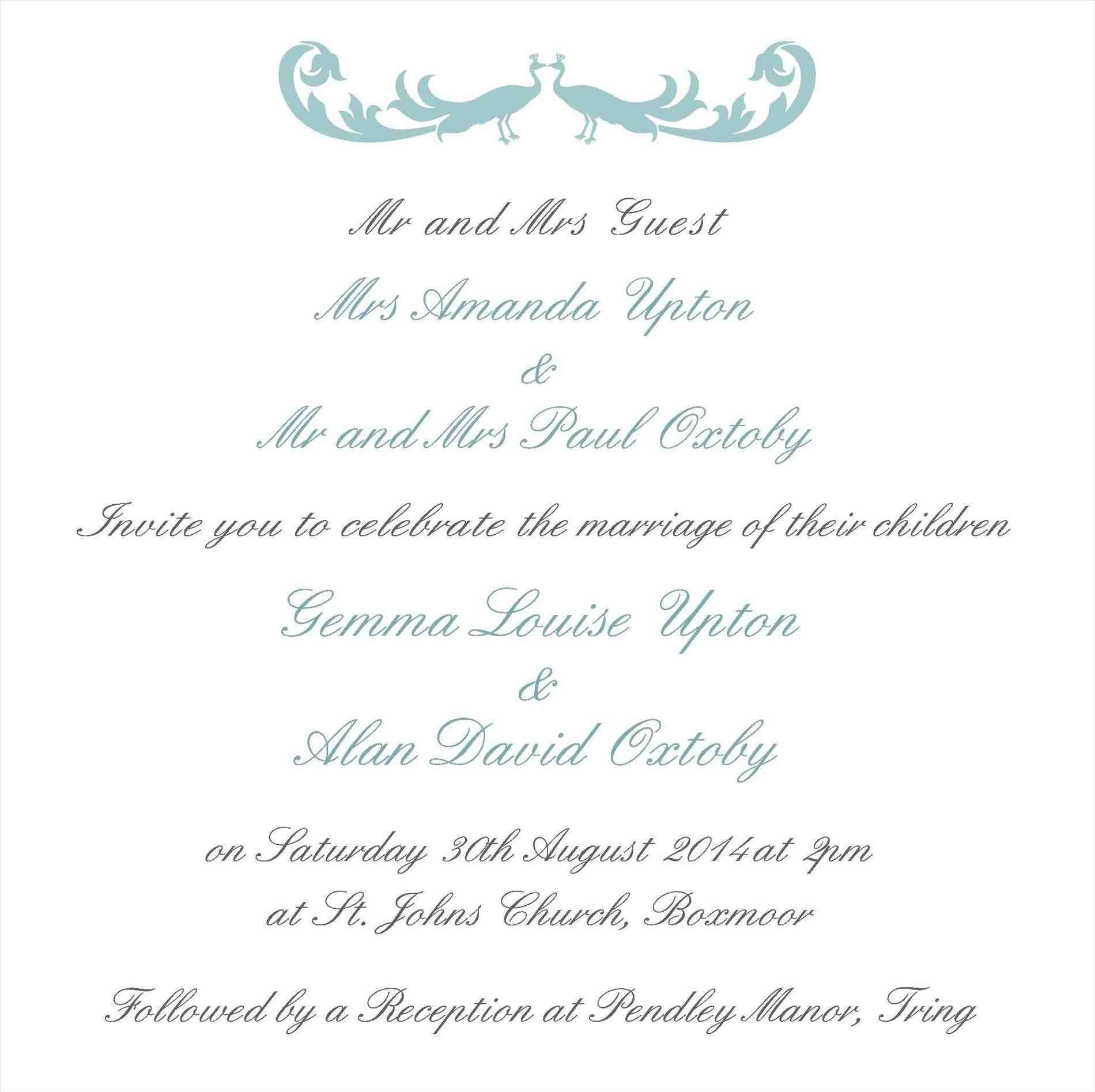 wedding invitation wording from bride and groom with
