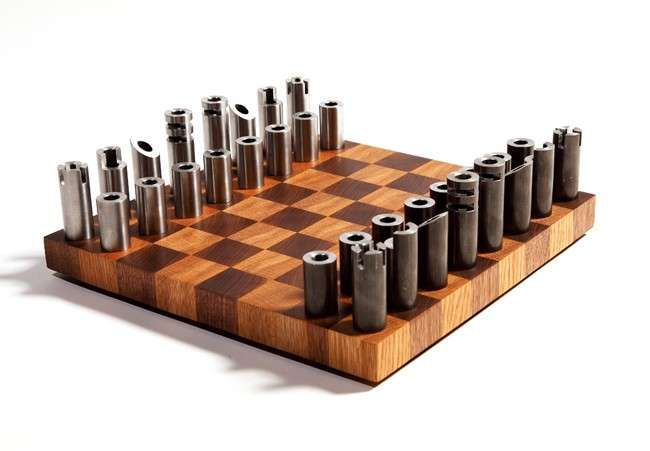 Post Modern Cylindrical Chess Sets Chess Board Chess Game Modern Chess Set