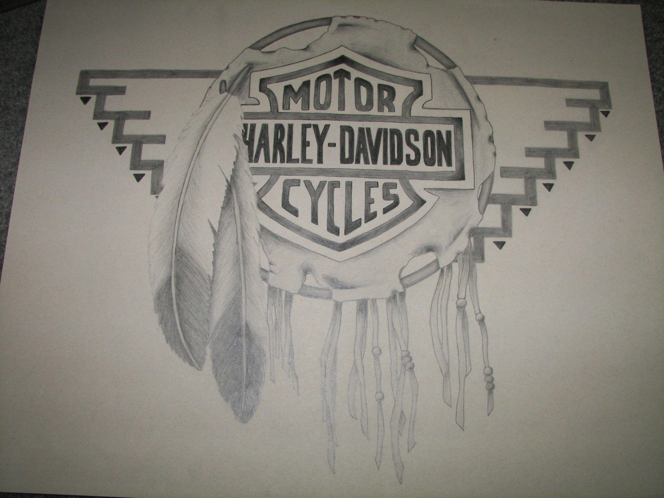 S harley davidson drawing pencil sc creations drawings