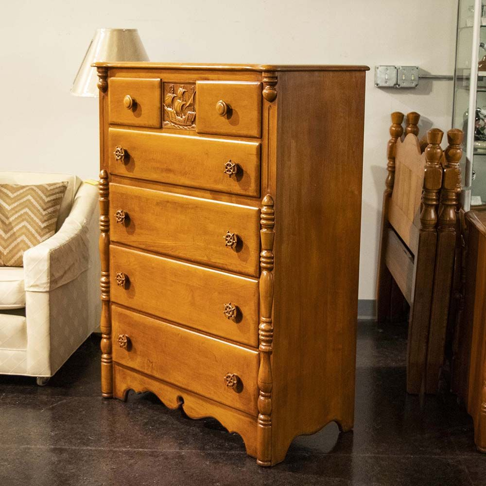 American Made By Virginia House This Tall Maple Chest Of Drawers