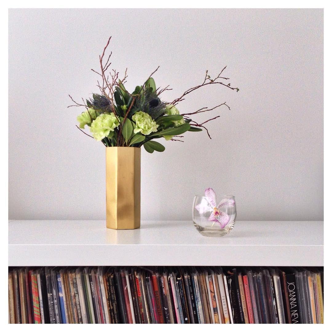 ferm LIVING Hexagon Vase: http://www.fermliving.com/webshop/shop/set-the-table-for-new-year/hexagon-vase.aspx