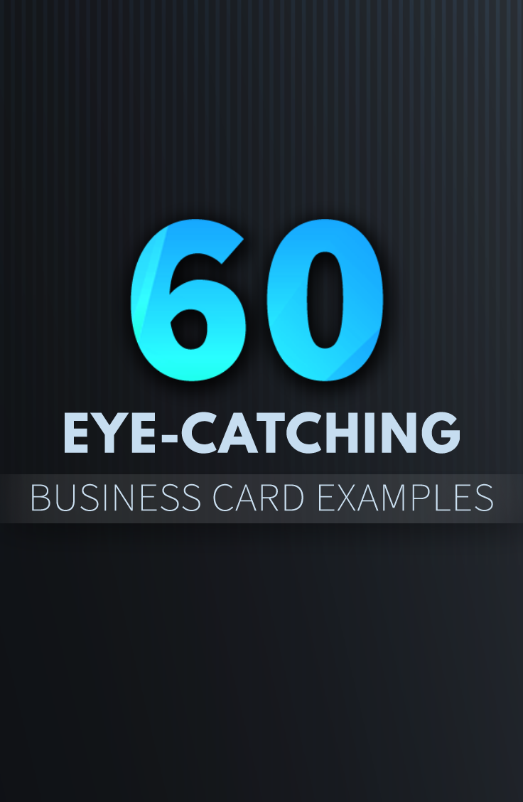 60 eye-catching business card examples for ideas and inspirations ...