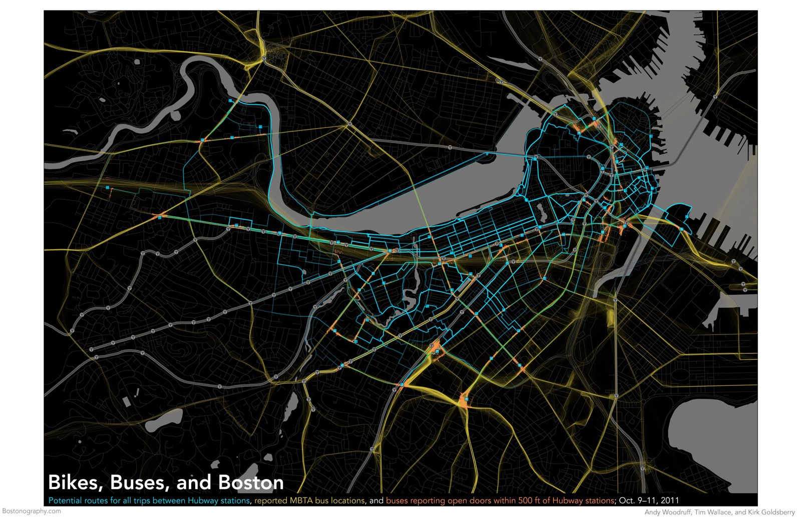 Mbta Boston Bikes Visualization Visualisation Bus Map Bike