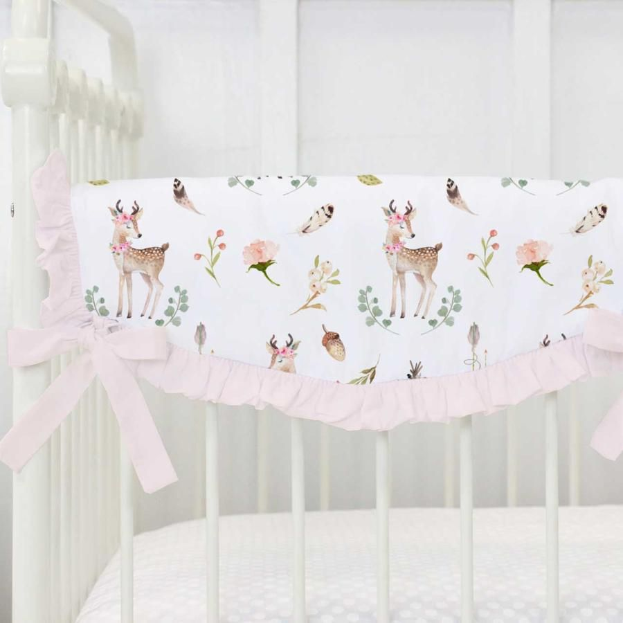 woodland theme decor ideas get the look at home.htm blakely s boho deer blanket  with images  crib rail cover  deer  blakely s boho deer blanket  with
