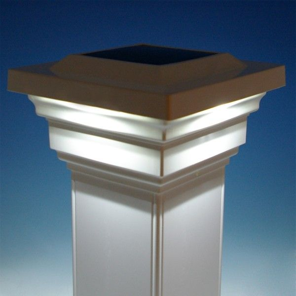 Regal solar post cap light by classy caps pinterest solar regal solar post cap light by classy caps white illuminated aloadofball Image collections