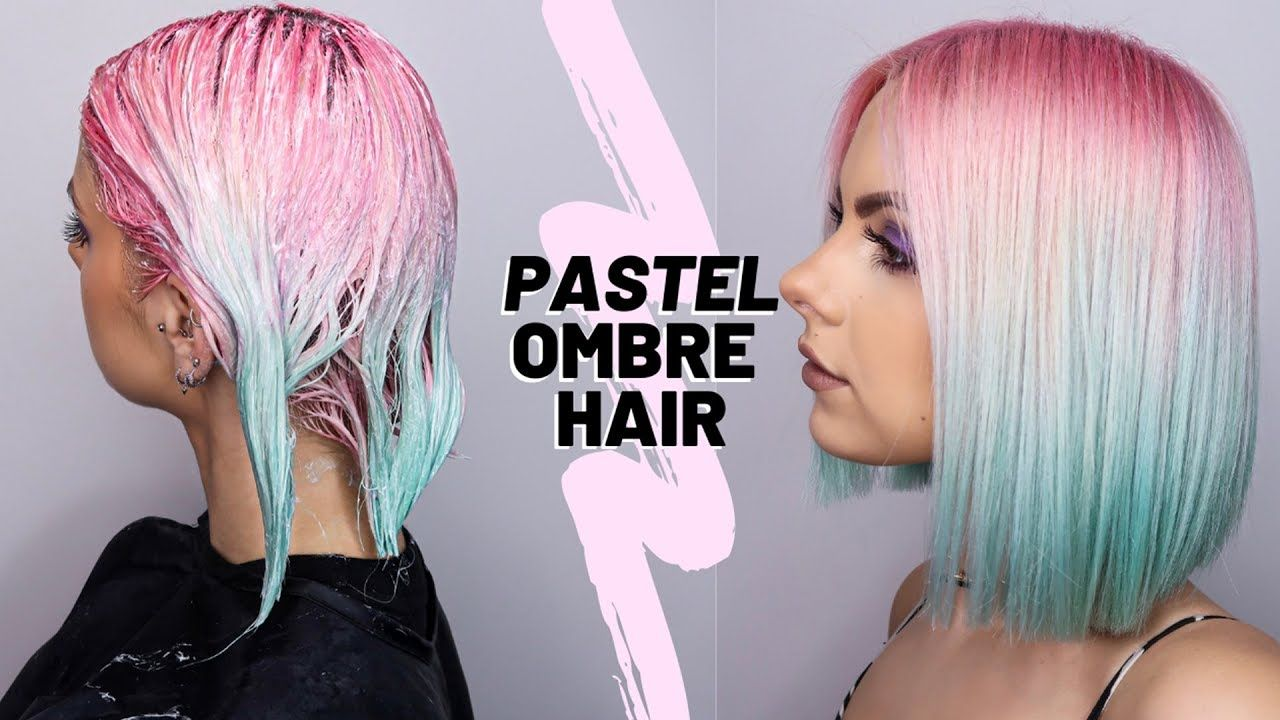 Diy Pink Blue Ombre Hair Dye Youtube Dyed Hair Ombre Blue Ombre Hair Pink Hair Dye