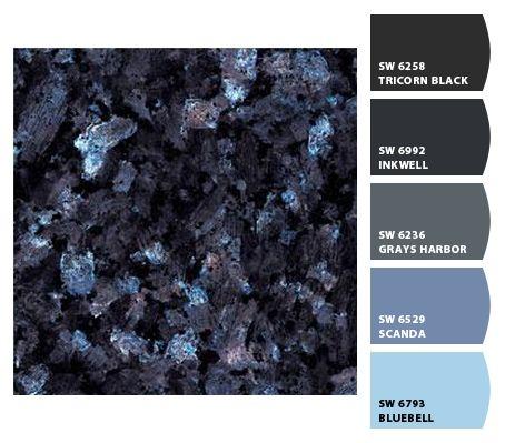 Colorsnap By Sherwin Williams Colorsnap By Keli M Blue Pearl Granite Blue Granite Countertops Blue Granite