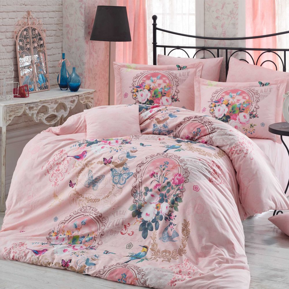 Dusty pink bedding set with birds flowers floral comforter dusty pink bedding set with birds flowers floral comforter mightylinksfo