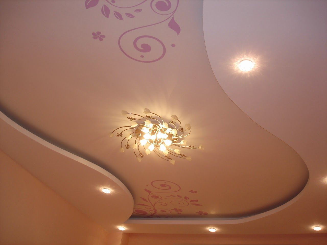 Gypsum False Ceiling Design With Ceiling Paintings For Living Room Inspiration Plaster Of Paris Ceiling Designs For Living Room Design Ideas