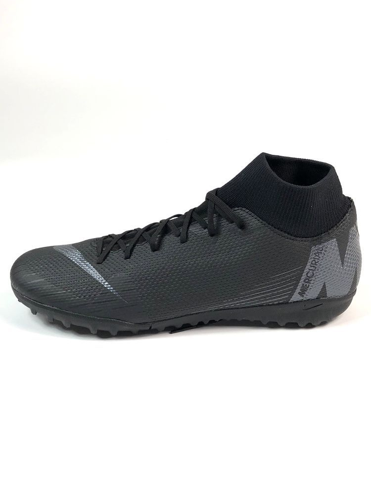 ba9124cd9 Nike Mercurial Superfly X 6 Academy TF Black Turf Soccer Cleats Size 10.5  Mens