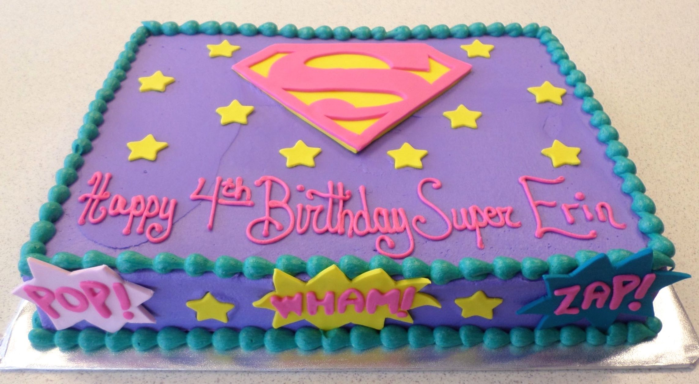 Groovy A Birthday Cake For A Little Superhero Supergirl Superhero Funny Birthday Cards Online Elaedamsfinfo
