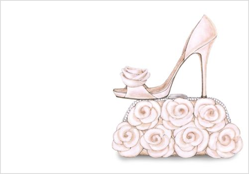shoe and purse bridal shower invitations storkie