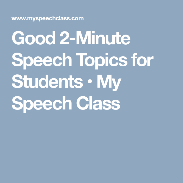 topics for speech in english for college students