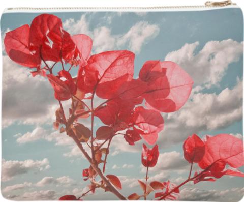 Flowers in the Sky Neoprene Clutch