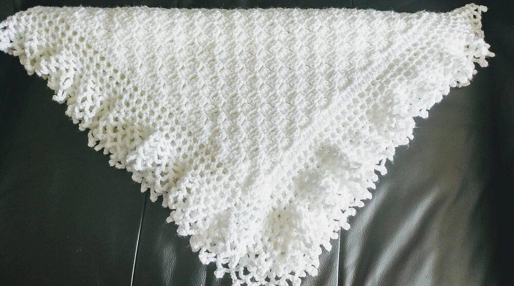 Lacy Baby Afghan/Christening Shawl Crochet pattern by Flo ...