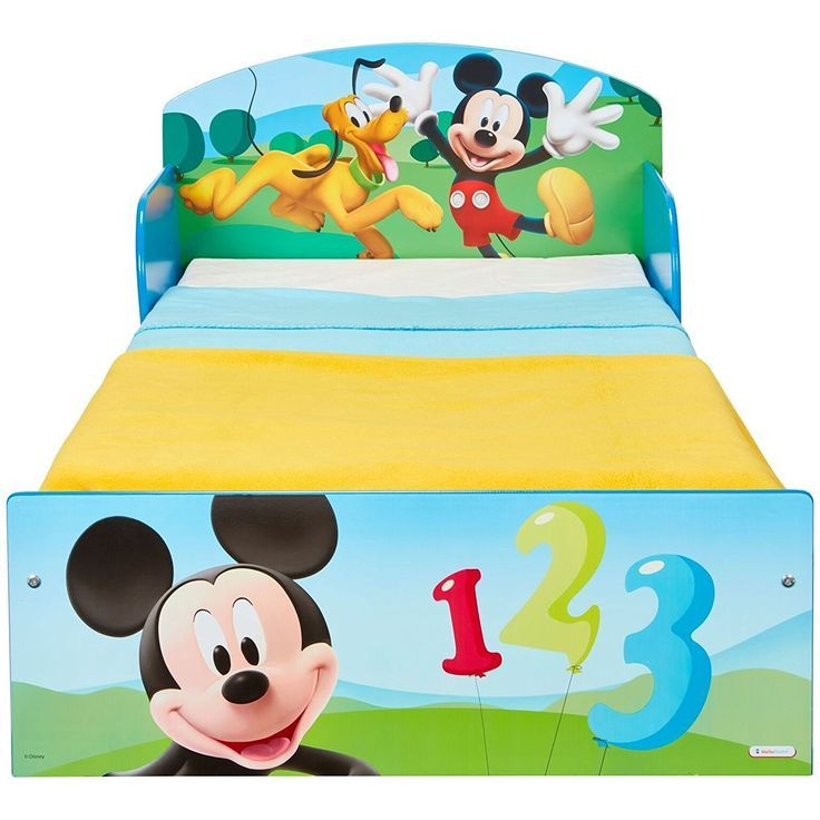 Micky Maus Bett 140 x 70 cm Kinderbett Kindermöbel Disney
