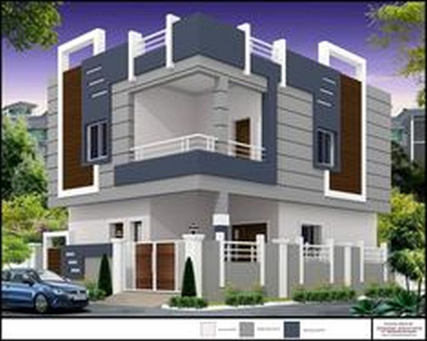 South Indian Home Temple Design Using Upvc Entrance Door And Best House Paint For Exterior For Small Sh Facade House House Front Design Minimalist House Design