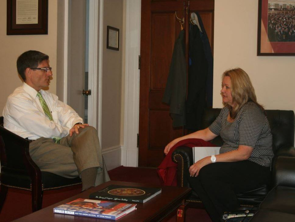 Today I Met With Kathleen Schaeffer, A Teacher At Bob Miller Middle School  In Henderson