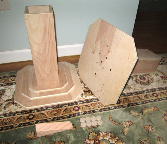 Dorm Room Bed Risers 14 Inch All Wood Construction Unfinished