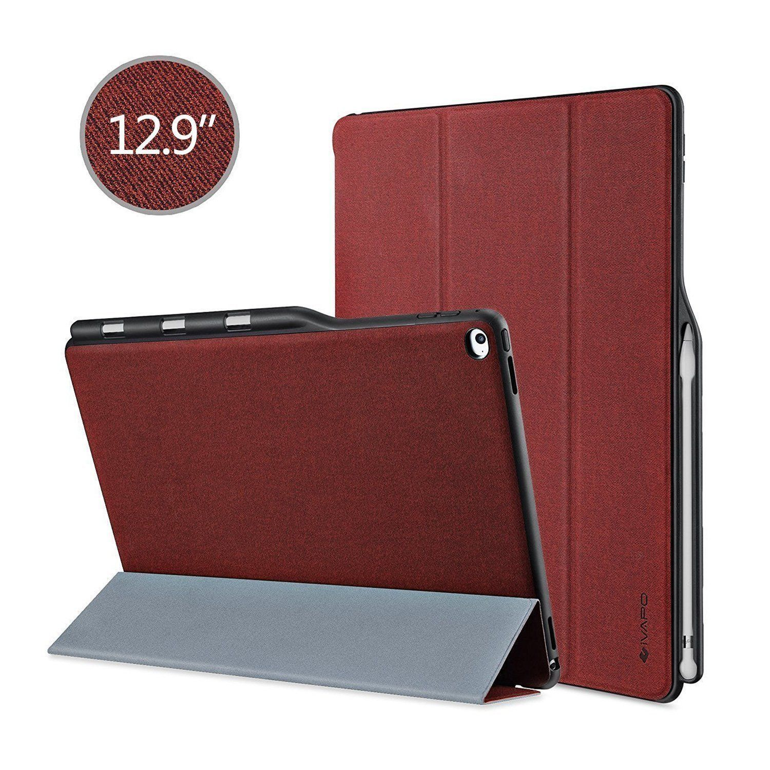 Ipad Pro 9.7 Case With Pencil Holder Alluring Burgundy Red New Cell Phone Case Holder Accessories For Apple Ipad Design Decoration