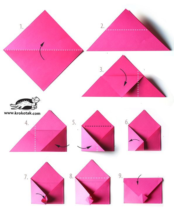 Super Cute Idea For V Day Or Any Envelope Origami
