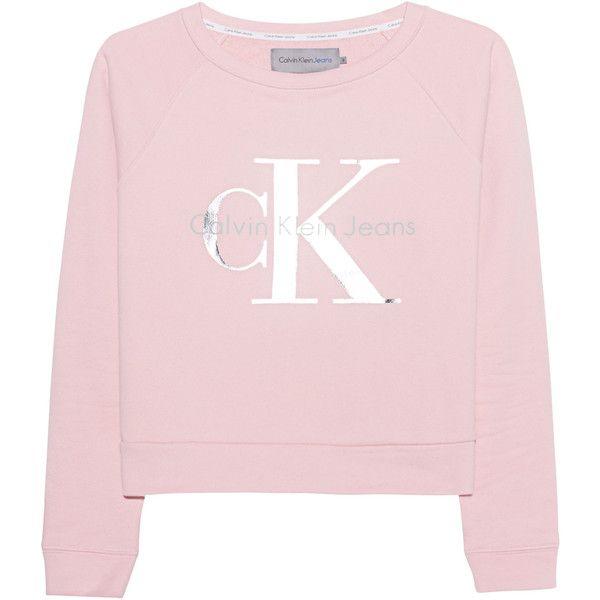 CALVIN KLEIN JEANS True Icon Hanna Mellow Rose // Cotton sweatshirt... (