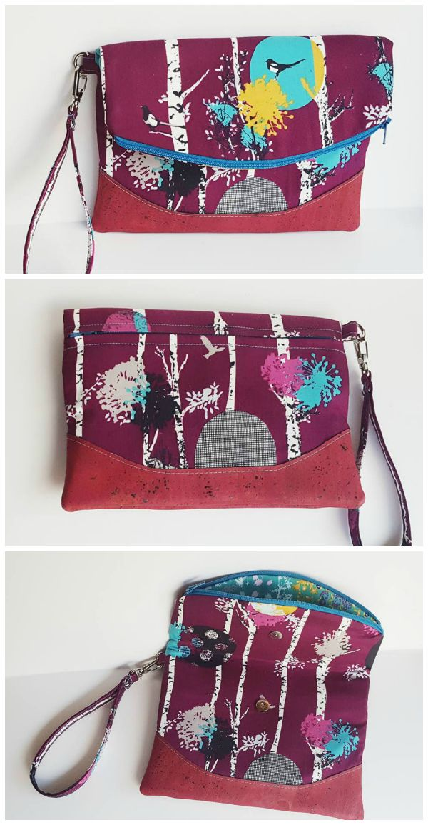 Free Foldover Clutch Purse Sewing Pattern The Heidi Bag From Swoon Patterns Photos By Laura Dufresne