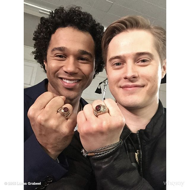 Wearing our #HSM class rings to celebrate the 10th anniversary. @corbinbleu.