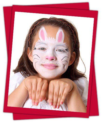 Kids Rabbit Face Paint Face paint for children Pinterest