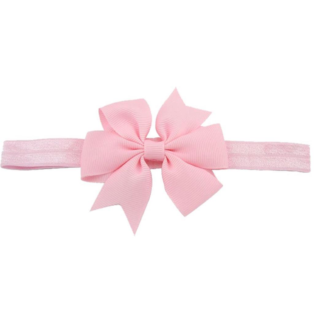 Light Pink Pinwheel Bow Headband Girl Hair Bows Hair Band Accessories Baby Girl Hair Bows