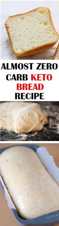 Almost Zero Carb Keto Bread Recipe | Pinterest | Keto bread, Keto and Bread recipes