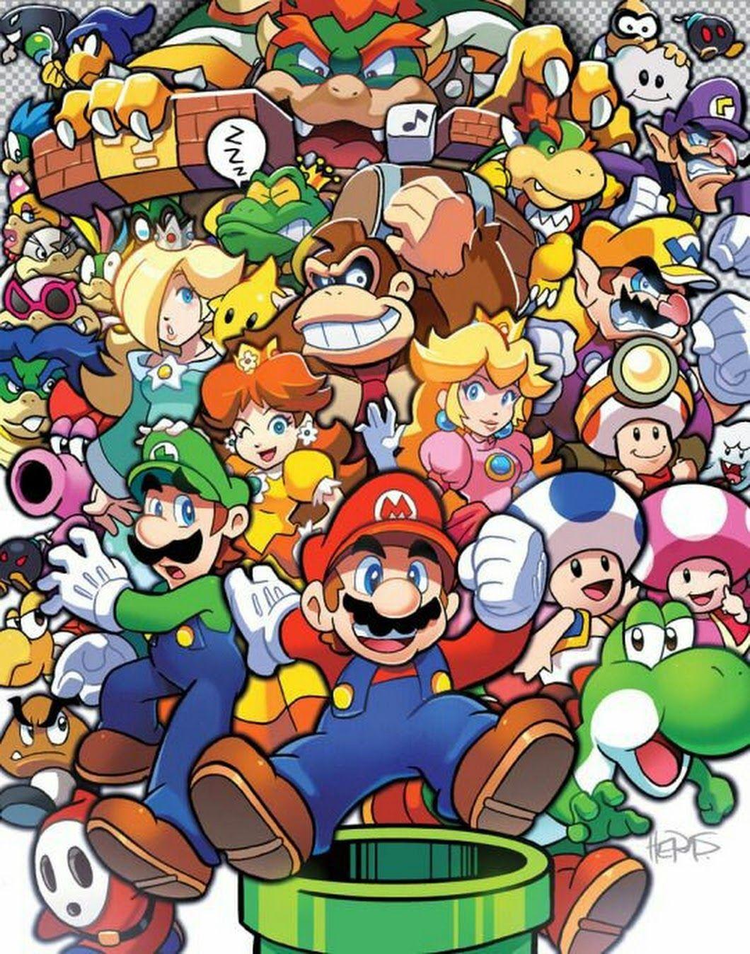Mario and Luigi Good morning everyone Super mario art